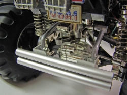 Tamiya Clodbuster 58065 Blue and Chrome - Hitch and Rear Bumper