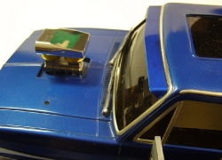 Tamiya Clodbuster 58065 Blue and Chrome - Over Top of Windshield and Hood