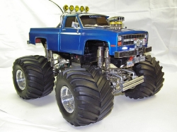 Tamiya Clodbuster 58065 Blue and Chrome - Overall brighter