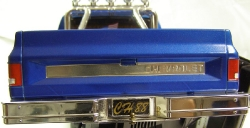 Tamiya Clodbuster 58065 Blue and Chrome - Rear Tailgate Chevrolet Bumper