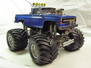 Tamiya Clodbuster 58065 Blue and Chrome - Overall darker