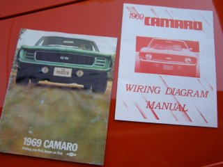 1969 Camaro SS 396 For Sale - Dealer Brochure and Wiring Diagram Book
