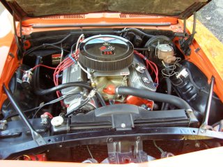 1969 Camaro SS 396 For Sale - Hood Up Engine Compartment