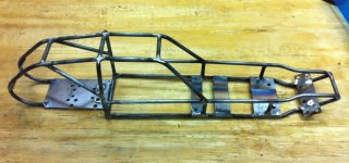 RC10 Tube Chassis - Complete Prototype Side View