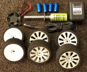 Team Associated NTC3 Nitro TC3 Lot - Wheels Tires Glow Ignitor Charger