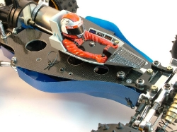 Tamiya Avante 58072 - Driver and Chassis Body Off Belly Pan On