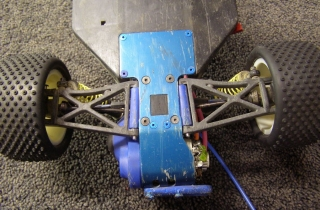 Team Associated B3 - Under Chassis Rear Aluminum Plate